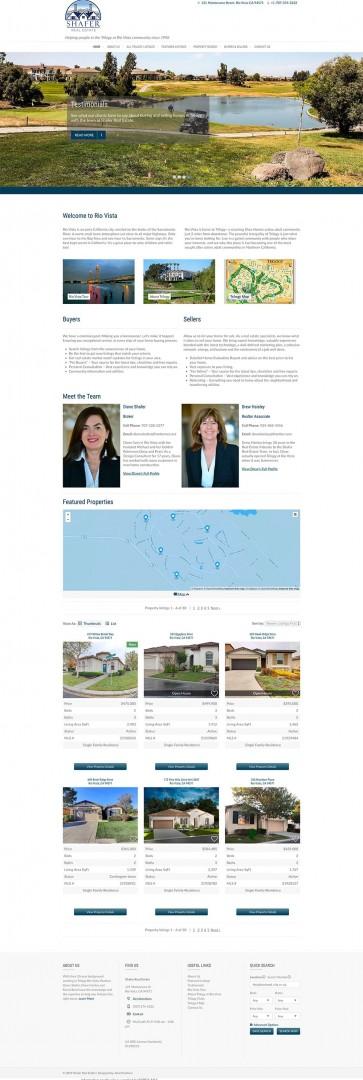 screenshot of real estate website homepage screenshot