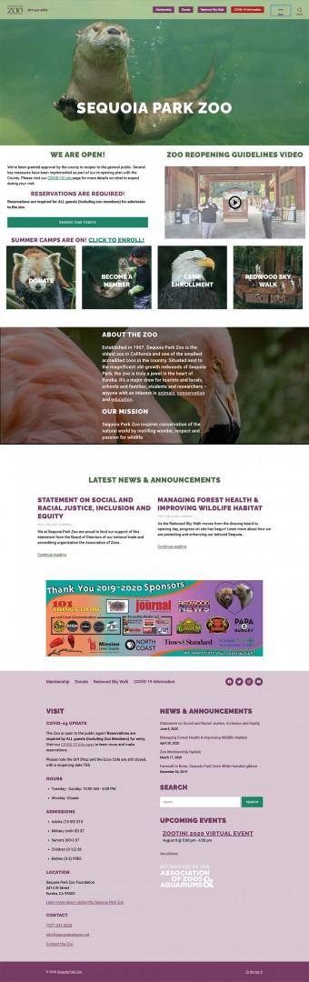 sequoia park zoo homepage